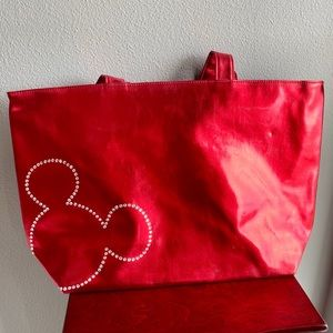 Brand New Rhinestone Red Mickey Mouse Totebag